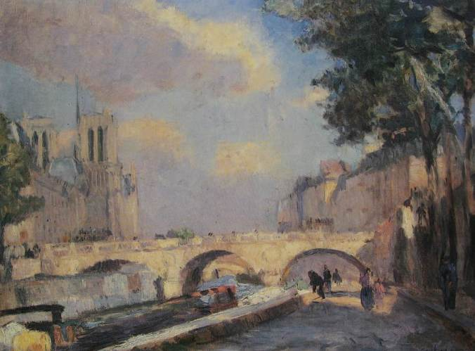 Albert LEBOURG-la seine à Paris-li