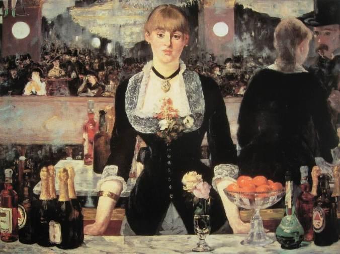 Edouard MANET- Bar aux Folies bergères-li