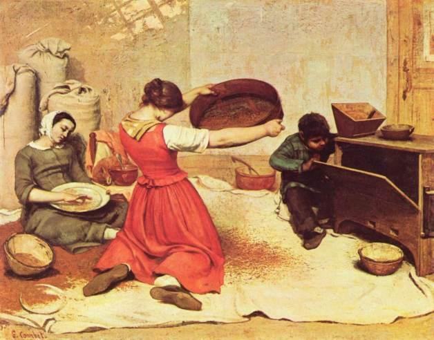 Gustave_Courbet les cribleuses de blé-li