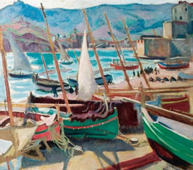 Jean-Puy -Barques vertes à Collioure-li