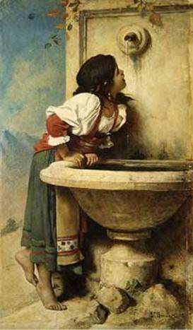 Jeune romaine à la fontaine
