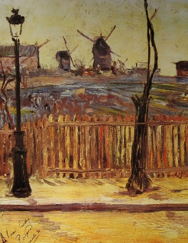 Paul SIGNAC-Les moulins de Montmartre-light
