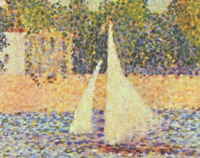Détail - Georges_Seurat la seine a la grande jatte