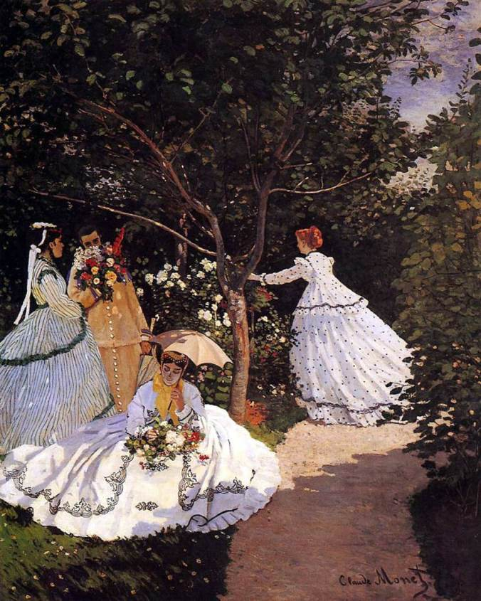 Monet-Femmes au jardin - 1867