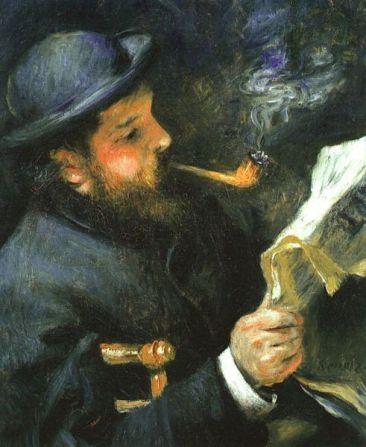 Renoir - Monet lisant