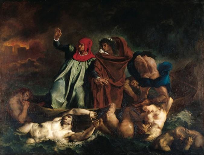 DELACROIX-La barque de Dante-light
