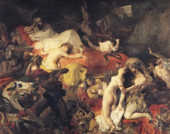 DELACROIX-La mort de Sardanapale