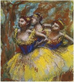 DEGAS-3 danseuses jaunes-light