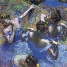 DEGAS-danseuses bleues