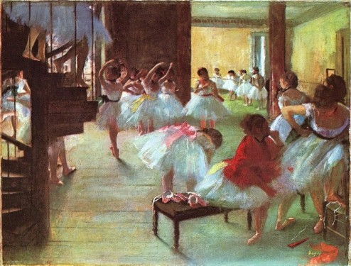 Edgar Degas-ecole de danse-light