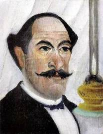 autoportrait à la lampe