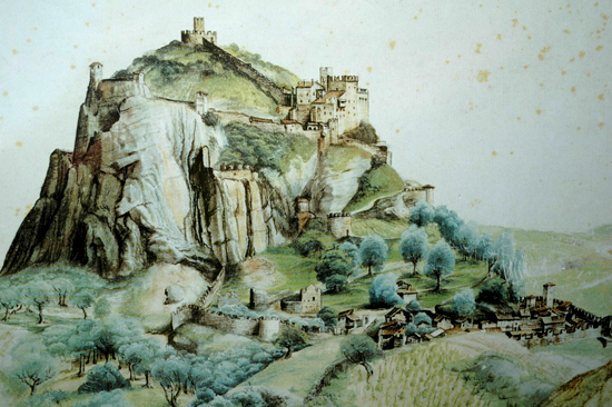 Painting of the Castel by Albrecht DŸrer