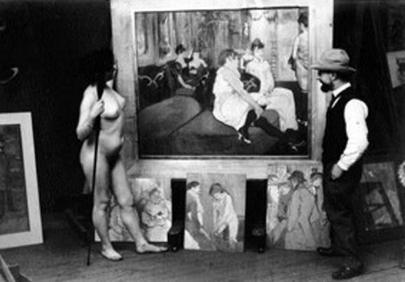 Lautrec devant son tableau - le salon de la rue des MOULINS