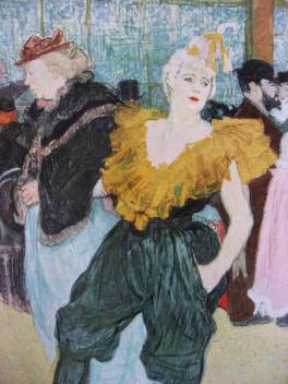 LAUTREC-La clownesse CHA-U-KAO- 1895