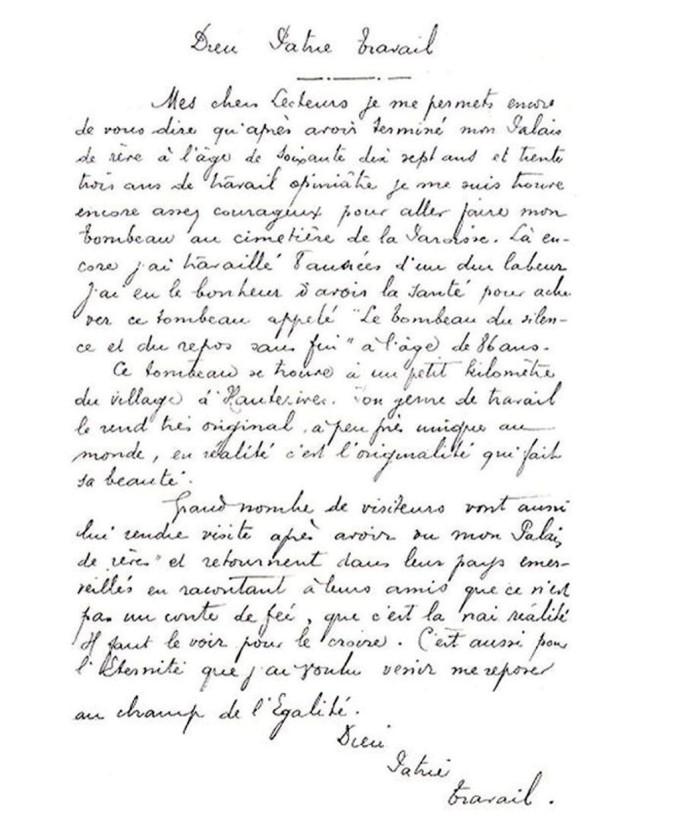 lettre facteur Cheval