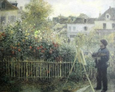 Renoir-Monet dans son jardin-1873