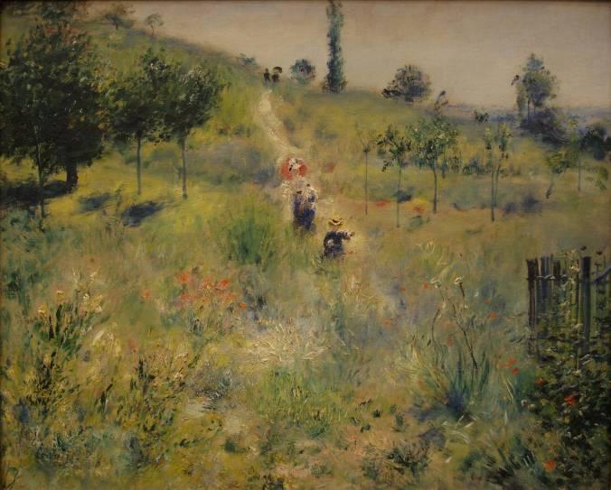 Renoir-Chemin montant dans les hautes herbes 1875