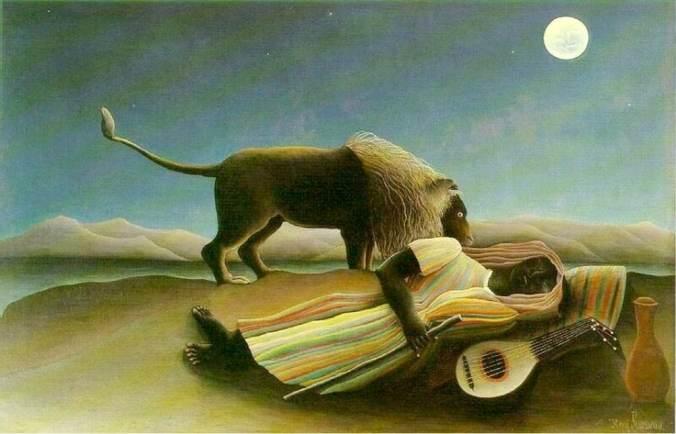Rousseau-Bohémienne endormie