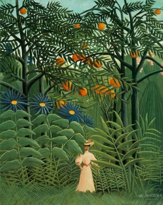 Rousseau-Femme se promenant dans une foret fantastique